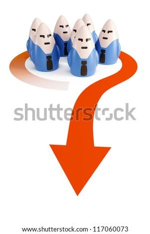 symbolic business team go forward - stock photo