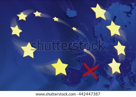 Symbolic illustration of European Union - stock photo