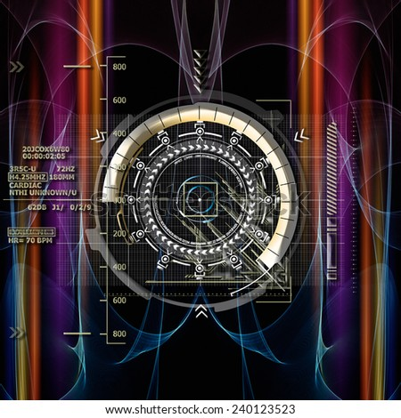 Symbolic Representation of the new Time Calculation - stock photo