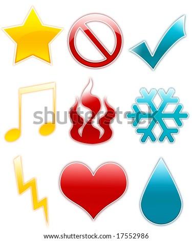 Symbols set - stock photo