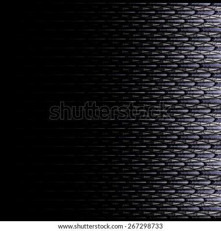 Symmetrical black fractal flower, digital logarithm for creative graphic - stock photo