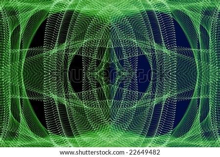 Symmetrical traces of street  illumination. Shutter low speed. - stock photo