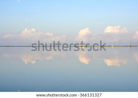 Symmetries - Salt of Marsala - stock photo
