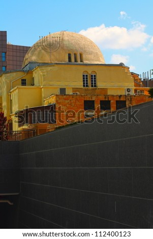 Synagogue in Tel Aviv - stock photo