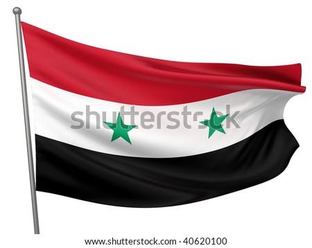 Syria National Flag - stock photo