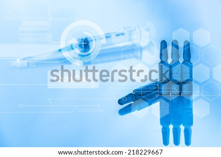 syringe and vial - stock photo