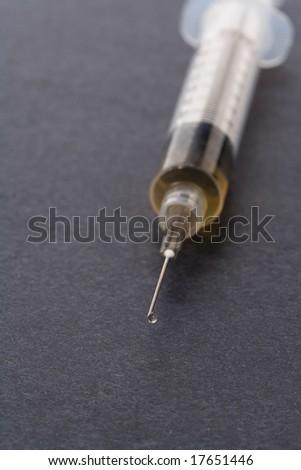 Syringe close up shot for background - stock photo