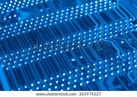 System, Motherboard, computer and electronics modern background - stock photo