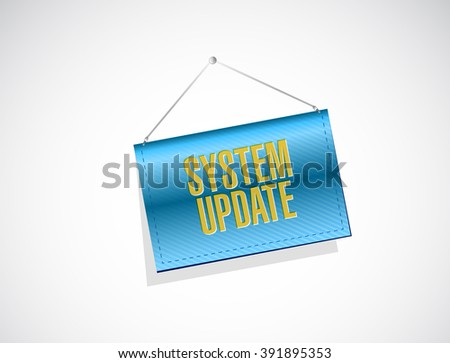 System update banner sign concept illustration design graphic - stock photo