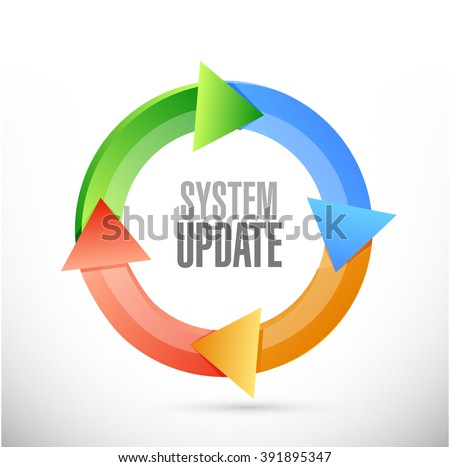 System update cycle sign concept illustration design graphic - stock photo