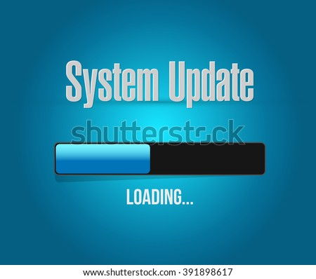 System update loading bar sign concept illustration design graphic - stock photo