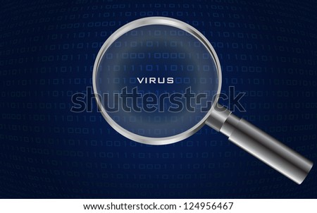 system virus detected , - stock photo
