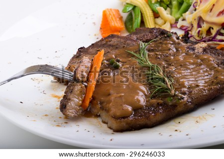 T-Bone  Steak - stock photo