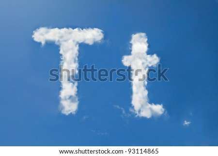 t font clouds - stock photo