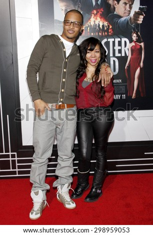 T.I. and Tiny at the Los Angeles premiere of 'Gangster Squad' held at the Grauman's Chinese Theatre in Hollywood on January 7, 2013.  - stock photo