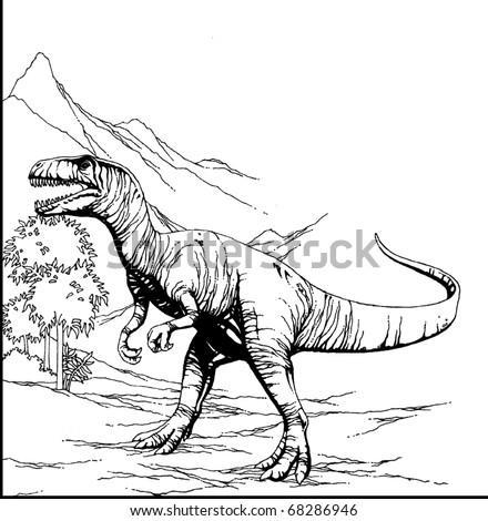 T-Rex Dinosaur - stock photo