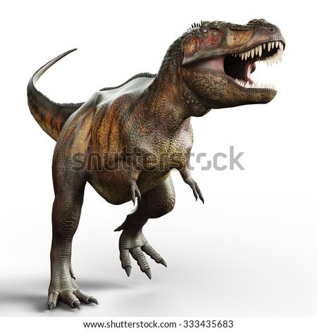 t-rex walking - stock photo