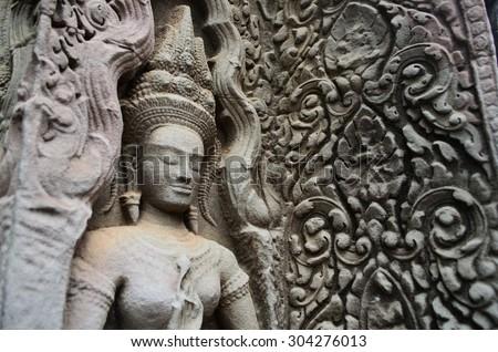 Ta Phrom temple, Angkor - stock photo