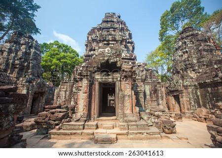 Ta Som, Angkor wat in Siem Reap,Cambodia - stock photo
