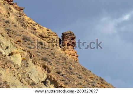 Tabernas desert,Spain,Andalusia - stock photo