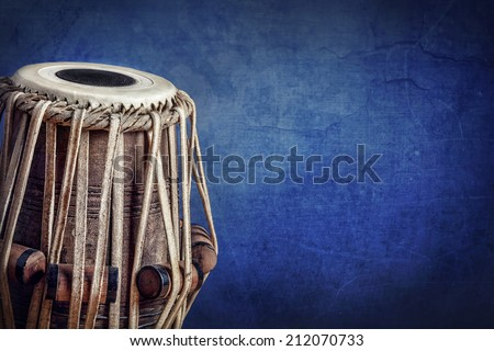 Tabla drum Indian classical music instrument close up  - stock photo