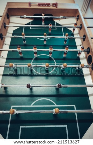 Table football game.  Soccer table game - stock photo