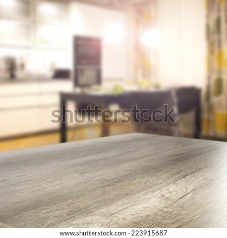 table in home and free space for you  - stock photo