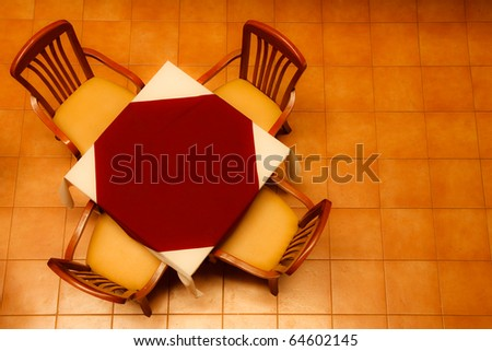 Table in restaurant - stock photo
