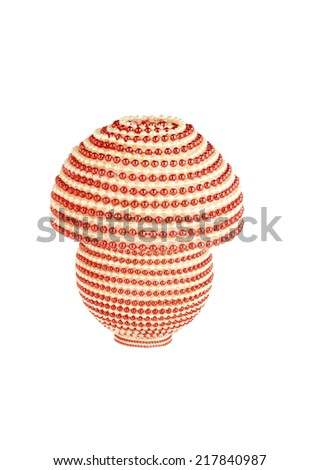 table lamp with bijouterie, isolation - stock photo