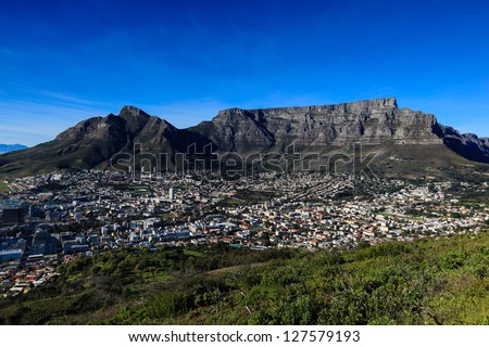 Table Mountain in Cape Town - stock photo
