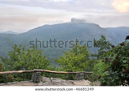 Table Rock Mountain, Linville Gorge Area, North Carolina Horizontal - stock photo