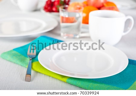 Table set up for high tea - stock photo
