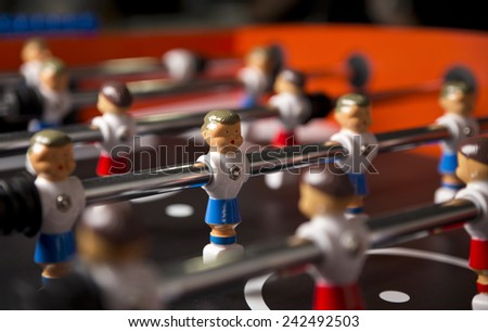 Table soccer close up - stock photo