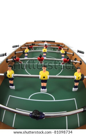table soccer isolated on the white background - stock photo