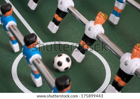 Table soccer, play - stock photo
