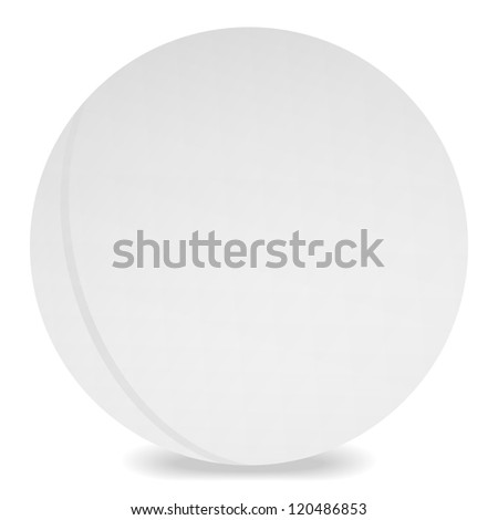 Table tennis ball on white, jpeg version - stock photo