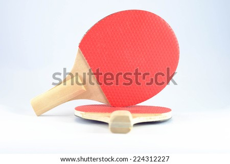 Table Tennis bat for exercising and relaxation - stock photo