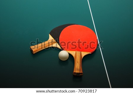 Table tennis equipment - stock photo