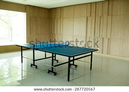 Table tennis for fitness. - stock photo