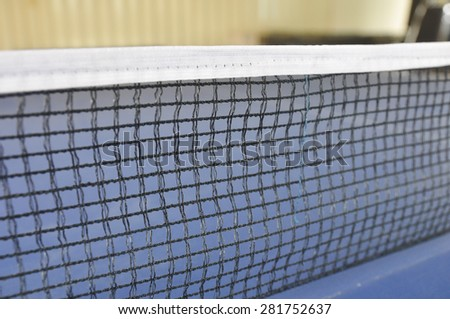 table tennis net - stock photo