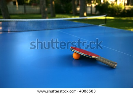 Table tennis outdoors - stock photo