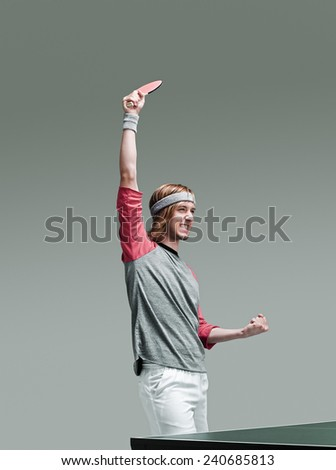 Table Tennis Player - stock photo