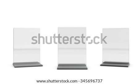 Table tent set for your design presentation - stock photo