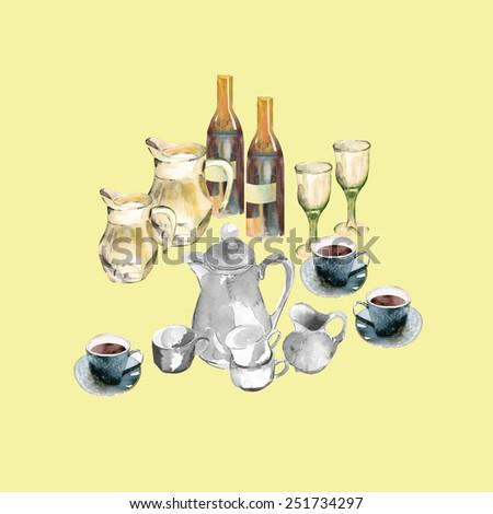 Table ware - stock photo