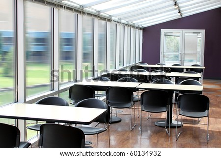 Tables and chairs - stock photo