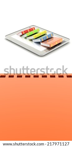 Tablet computer (BOOK) - stock photo