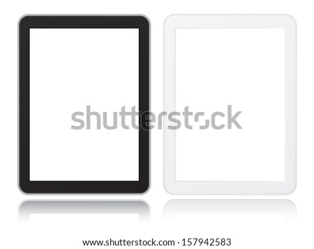 tablet computer icon black and white not similar to ipade - stock photo