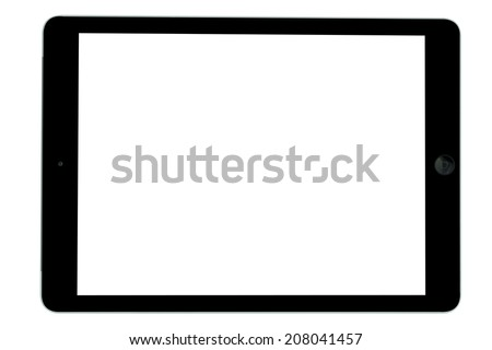 tablet computer isolated on over white background - stock photo