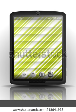 Tablet Computer, Mobile Phone - stock photo