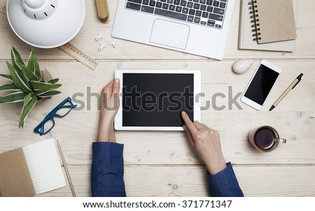 Tablet header image - stock photo